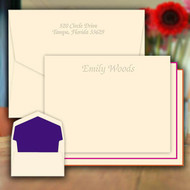 Fancy Design Flat Cards - Embossed Stationery (EG5006)