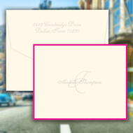 Monaco Folded Notes - Name and Initial - Embossed Stationery (EG7080)