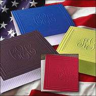 Embossed Monogram Stationery, Marquis Colorful Stationery