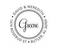 Greene Personalized Self-Inking Address Stamp (TD7214)