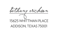 Bethany Personalized Self-Inking Address Stamp (TD2018)