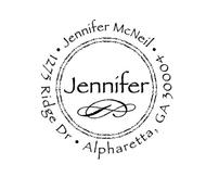 Jennifer Personalized Self-Inking Address Stamp (TD6404)