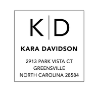 Davidson Personalized Self-Inking Address Stamp (TD6572)
