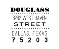 Douglass Personalized Self-Inking Address Stamp (TD2044)