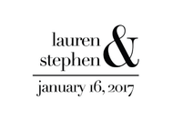 Classic Personalized Self-Inking Wedding Stamp (TD1021)