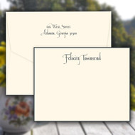 Casual Personalized Stationery - Raised Ink Flat Cards (EG7094)