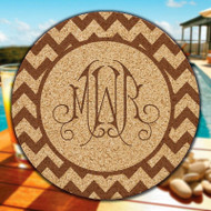 Virginia Monogram & Design Cork Coasters - 6/Set (EG9217)