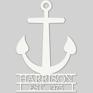 Anchor Engraved Wall Sign (EG9305)