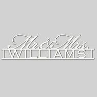Mr. & Mrs. Engraved Wedding Wall Sign (EG9309)
