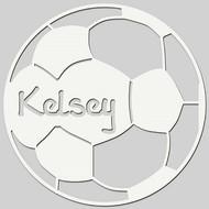 Soccer Ball Engraved Wall Sign (EG9311)