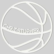 Basketball Engraved Wall Sign (EG9313)