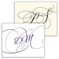 Cursivo Initial Fold Notes - Raised Ink Stationery (EG5308)
