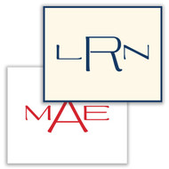 The Modern Monogram Fold Notes - Raised Ink Stationery (EG5309)