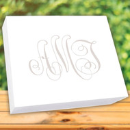 Henry Watercolor Monogram Large Notepad - White - 250 Sheets (EG7075)