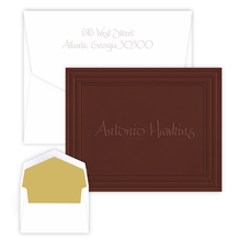 Classic Framed Embossed Stationery - Paper Color & Font Choice (EG1212)