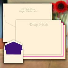 Fancy Design Flat Cards - Embossed Stationery (EG5006)