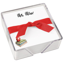 Apple Memo Squares - White with Holder - 275 Personalized Sheets (EG1011)