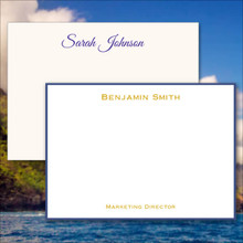 Professional Personalized Flat Cards - Raised Ink Stationery - Optional Border (EG7098)