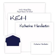 300 Piece Somerset Stationery Set - 3 Flat Card Sizes - Raised Ink (EG1099 / EG3195)  - Font L01