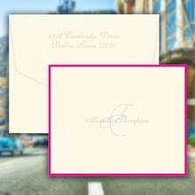 Monaco Folded Notes - Name and Initial - Embossed Stationery (EG7080)