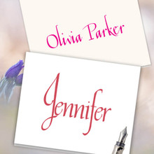 Discount Personalized Stationery - Cosmopolitan Notes - Raised Ink Stationery (EG7083)