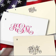 (15% OFF Sale!) Magnificent Monogrammed Personalized Stationery - Thank You Note Cards