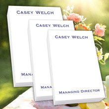 Personalized Notepad Tablet Trio - White Tablet Set - 300 Sheets!