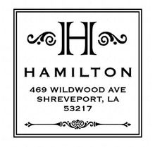 Hamilton Personalized Self-Inking Address Stamp (TD1010)