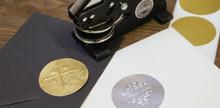 Foil Seals for Embossers - Round Foil Embosser Labels