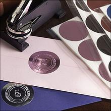 Foil Seals for Embossers - Round Foil Embosser Labels (TD1601)