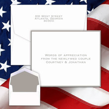Sympathy & Bereavement Personalized Thank You Notes - Silver Border (EG3641)