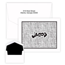 Personalized Kids Artsy Notes - Raised Ink EG5302 | StationeryXpress.com