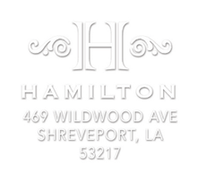 Hamilton Personalized Embossing Set Design (TD6004)