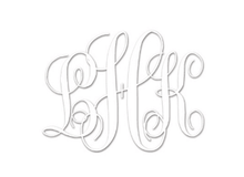 Fancy Script Personalized Monogram Embossing Set (TD6006)