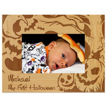 Halloween Picture Frame Engraved - Horizontal