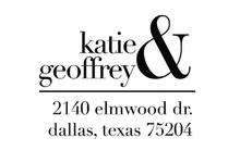 Katie & Geoffrey Personalized Self-Inking Address Stamp