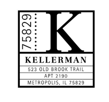 Kellerman Personalized Self-Inking Address Stamp (TD6526)