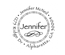 Jennifer Personalized Self-Inking Address Stamp (TD6404)