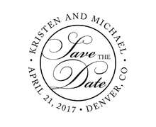 Save The Date Personalized Self-Inking Wedding Stamp (TD7246)