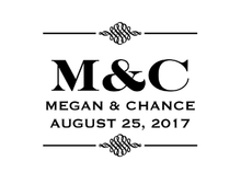 Two Initial Personalized Self-Inking Wedding Stamp (TD7256)