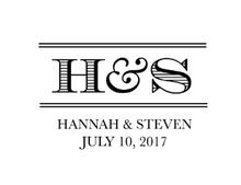 Lined Personalized Self-Inking Wedding Stamp (TD7258)