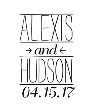 Hudson Personalized Self-Inking Wedding Stamp (TD1024)