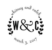 Whitney Personalized Self-Inking Wedding Stamp (TD1027)