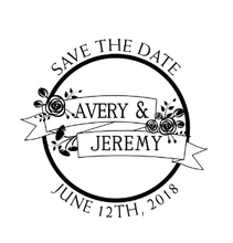 Floral Save The Date Personalized Self-Inking Wedding Stamp (TD1031)