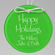 Holiday Keepsake Ornament - Circle (EG0062)