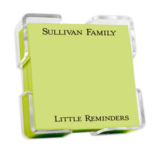 Petite Square Colorful Memo Notepads with Acrylic Holder (EG2001)