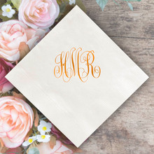 Personalized Monogram Napkins - Foil Pressed - 100/Box (EG2672)