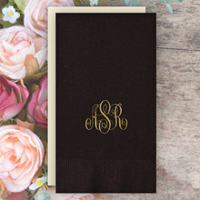 Personalized Monogram Guest Towel Napkins - Foil Pressed - 100/Box (EG2676)