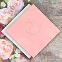 Personalized Monogram Napkins - Embossed - 100/Box (EG2677)
