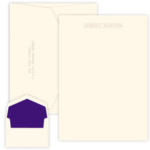 Coveted Personalized Letter Sheets - Embossed Stationery - 25/Set (EG1124)
